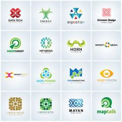 Creative logo design collection, logo set, logo collection, vector logo template.