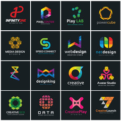 Creative logo design collection, logo set, logo collection, vector logo template.