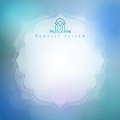 Ramadan Kareem card background for greeting celebration with arabic calligraphy