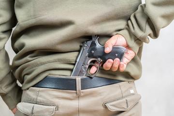 man carry hidden gun