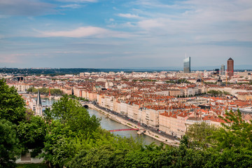 Panorama de Lyon du Jardin des Curiosités