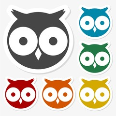 Owl sticker set