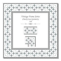 Vintage 3D frame 349 Check Cross Geometry