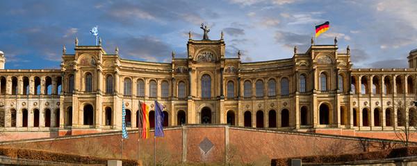 Papiers peints Artistique Landtag Maximilianeum Bayern sehenswürdigkeiten Münchner Parlament des Freistaats hochauflösend Panorama HD