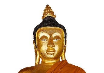 Image of old buddha isolated