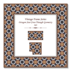 Vintage 3D frame 363 Octagon Star Cross Triangle Geometry