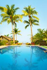 Swimming pool at sunny day