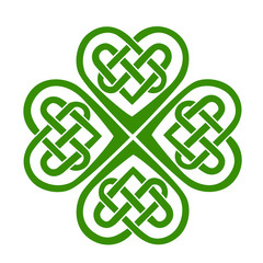 Celtic Heart, knot, shamrock, lucky charm, irish, St. Patricks Day, leaf clover