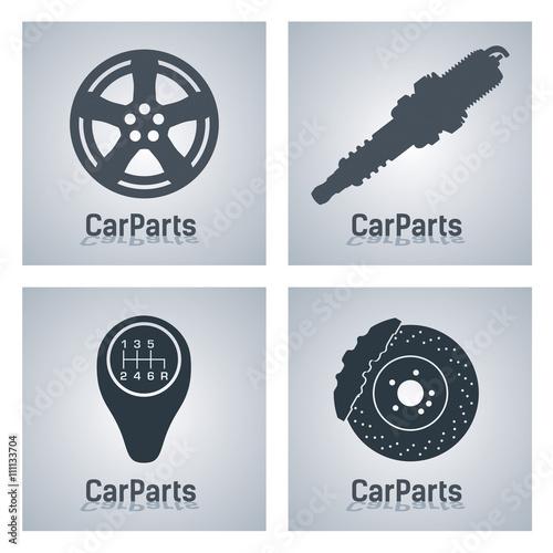 Car Parts 2 - simple - icon\