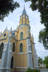 Thai temple in Christian church style (Wat Niwet Thammaprawat