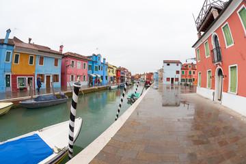 Fotobehang Mediterraans Europa wide view from the Burano island, Venice