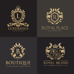 Luxury logo set, Best selected collection for hotel and fashion brand identity