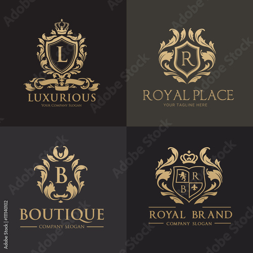 hotel logo, Luxury logo collection, crest logo set,premium logo ...