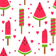 Seamless pattern ice cream
