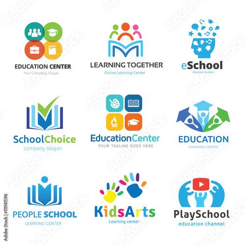 logo set. Education logo collection. Kids learning logo.learning logo ...