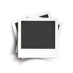 Wall Mural - Batched Instant Photos White