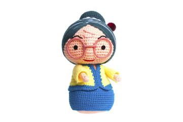 Handmade crochet Grandmother doll.