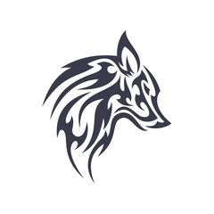 Tattoo wolf animal vector logo for unique modern business sign isolated illustrations