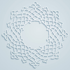 Arabic ornament round pattern