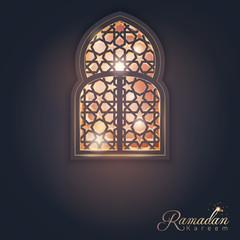 Ramadan Kareem greeting card background islamic design banner