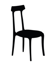 Silhouette of classic chair