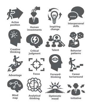 Business management icons. Pack 19.