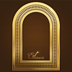 Eid Mubarak greeting card template islamic vector design