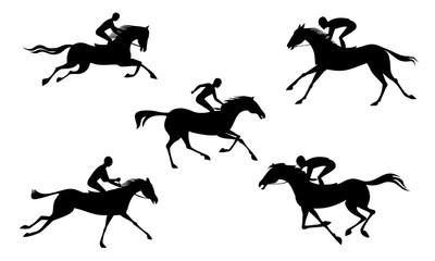 running horse and jockey