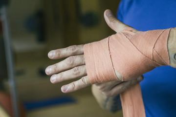 Bandage,Boxen,Sportler,Kampfsportler,Training,Workout,Entschlossenheit