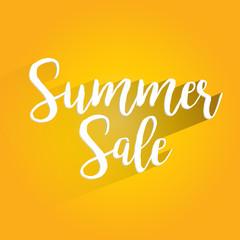 Summer Sale Lettering Design