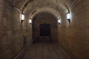 dark corridor brick stone