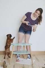 Hund,fotografieren,lächeln,entspannt,genießen,stehen,neu