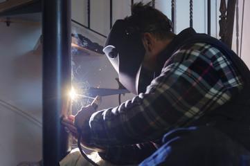 Stufen,Metall,arbeiten,Schutz,reparieren,Können,leuchten