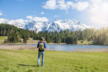 Rucksack,wandern,genießen,Freiheit,Freizeit,Aussicht,Urlaub