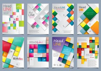 Cover Design Set - Vector Illustration, Graphic Design. Modern Concept, Colorful Design