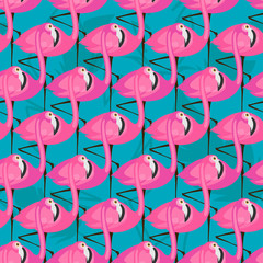 patter with pink flamingos