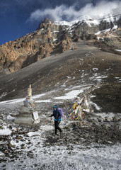 wandern,kalt,Erlebnis,Abenteuer,Wolke,Schnee,Buddhismus