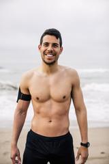 trainieren,lächeln,Zufriedenheit,stehen,fit,Joggen,Sportler