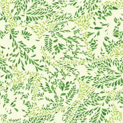 Floral pattern Leaves textured tiled background Ornamental floururish abstraction