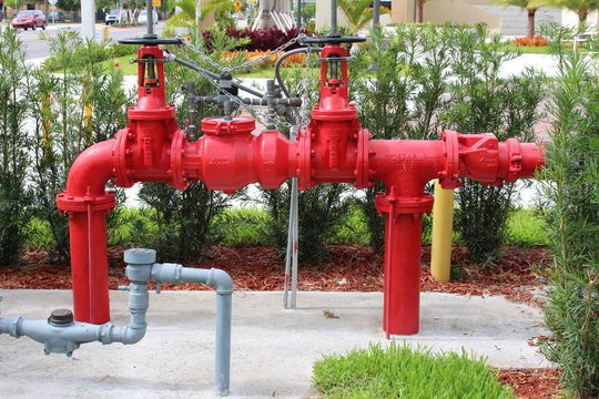 a close up of a fire backflow