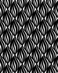 Abstact vector seamless pattern  Floral geometric line texture