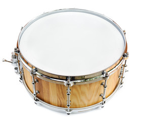 New wooden share drum isolated