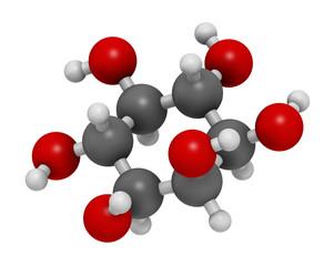 inositol (myo-inositol) molecule. 3D rendering.