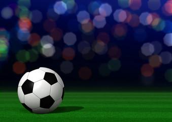 Fußball auf Rasen im Stadion