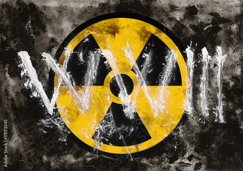 Text Ww3 And Symbol Of Radioactivity On Dark Grunge Background