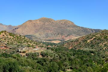 View of the village of Tajalte in Middle Atlas
