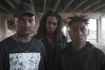 Three young men.