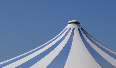 Circus tent and blue sky