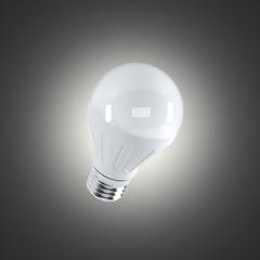 LED light bulb on a dark bakground (3d render)