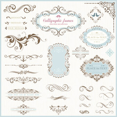 Ornate Motifs and Calligraphic Design Elements